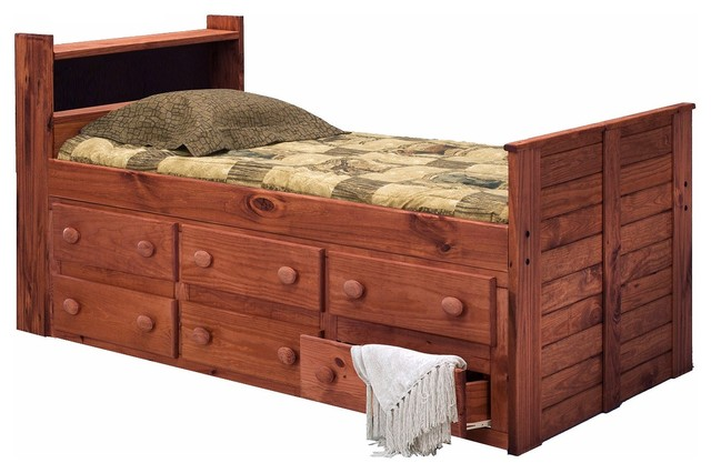 Duke Twin Bookcase Captains Bed Transitional Kids Beds