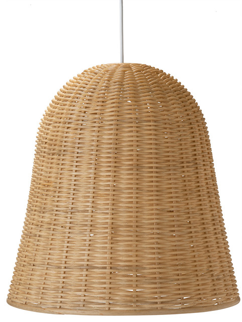 Wicker bell pendant lamp natural tropical pendant lighting wicker bell pendant lamp natural aloadofball Gallery