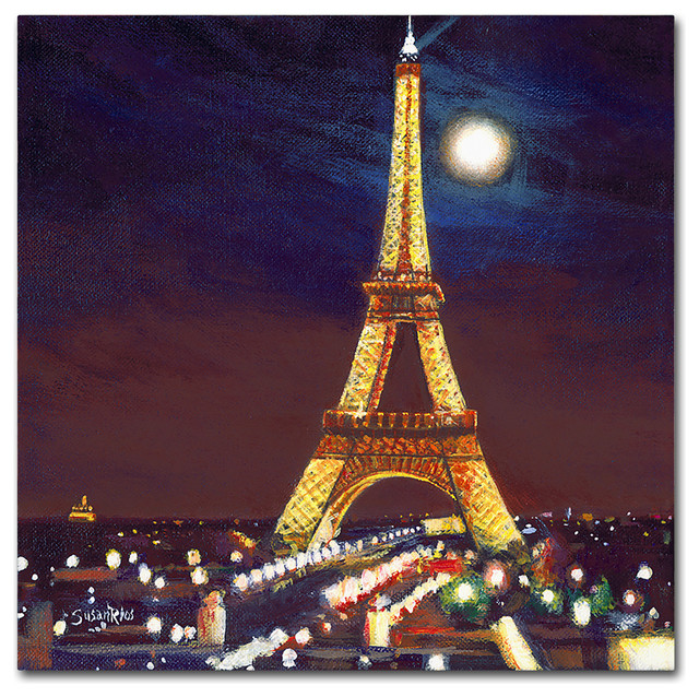4e3f65f328 Susan Rios 'Moonlight Over Paris' Canvas Art - Contemporary - Prints And  Posters - by Trademark Global