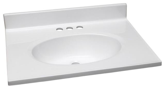 Premier Vanity Top, Cultured Marble, White, 49x19.