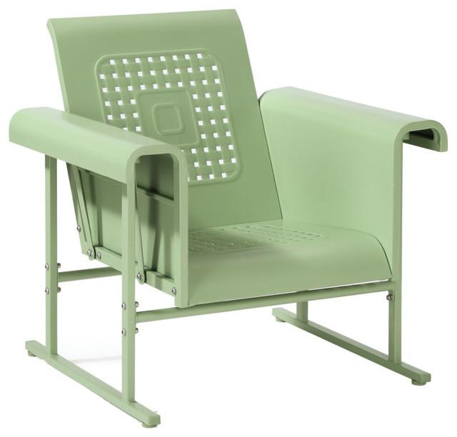 Veranda Single Glider Chair, Oasis Green Outdoor Gliders