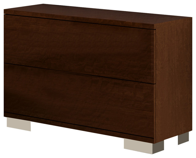 e1ab75f5290d Volare Walnut 2D Night Stand - Modern - Nightstands And Bedside ...