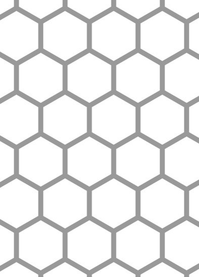 Hex Tile Accent Stencil Traditional Wall Stencils By