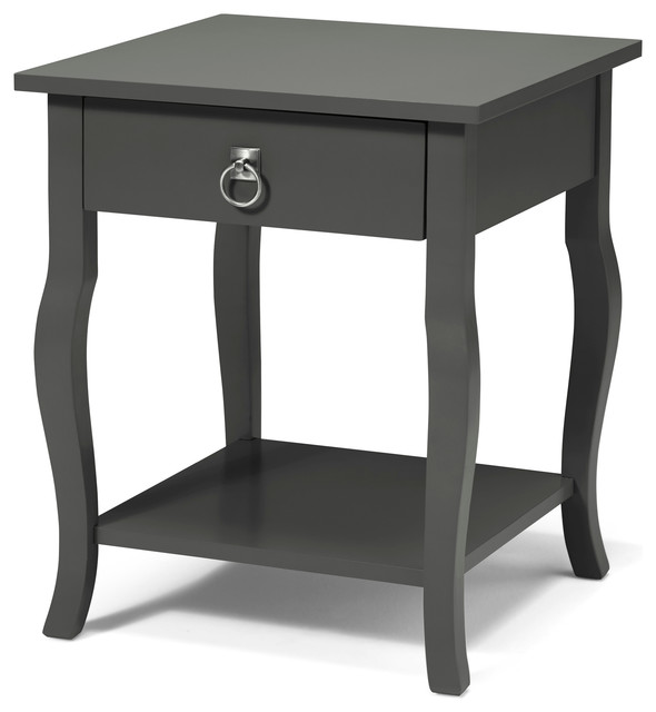 Kate And Laurel Lillian Wood Side Table With Curved Legs