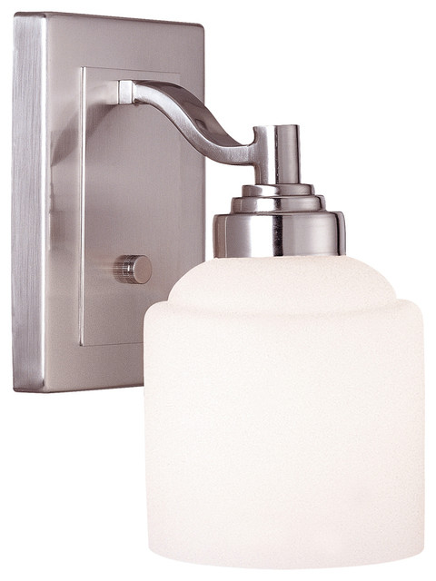 Transitional Bathroom Wall Sconces wilmont 1-light bathroom wall sconce, pewter - transitional