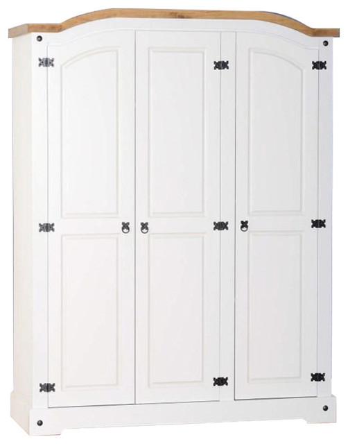 Seconique Corona 3-Door Wardrobe, White