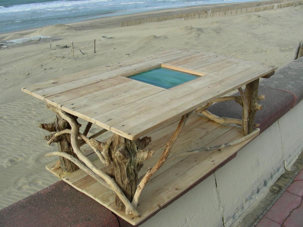 Table Basse En Bois Flotte Et Bois De Palette Coastal