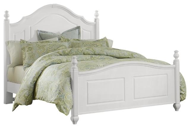 Lissette Poster Bed, Parisian White, Queen.