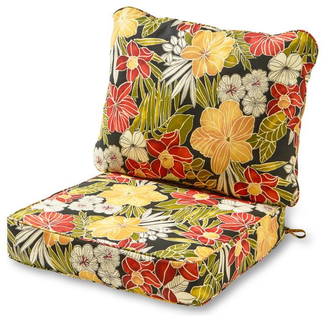 Outdoor 2 Piece Deep Seat Cushion Set, Deep Seat Patio Cushions
