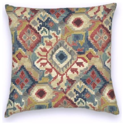 Blue Red Southwestern Style Cotton Decorative Throw Pillow Cover Unique Southwest Style Decorative Pillows