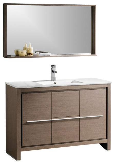 47 5 Single Sink Bathroom Vanity Contemporary Bathroom Vanities And Sink Consoles By