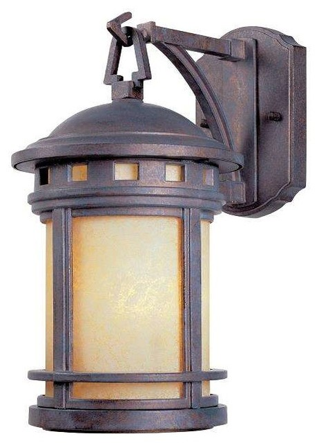Designers Fountain 2370-Am-Mp Outdoor Wall Light In Mediterranean Patina.