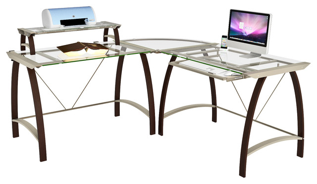 Kayden Gl L Desk Contemporary Desks And Hutches By Z Line Designs