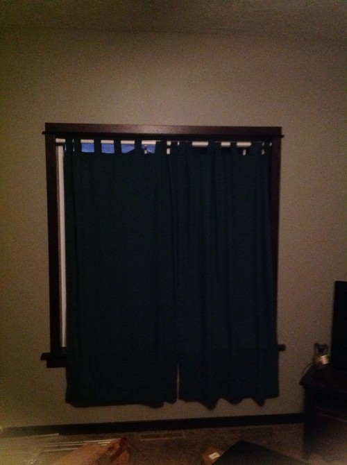 How high and wide should I hang my curtain rods - 9 ft ceilings?