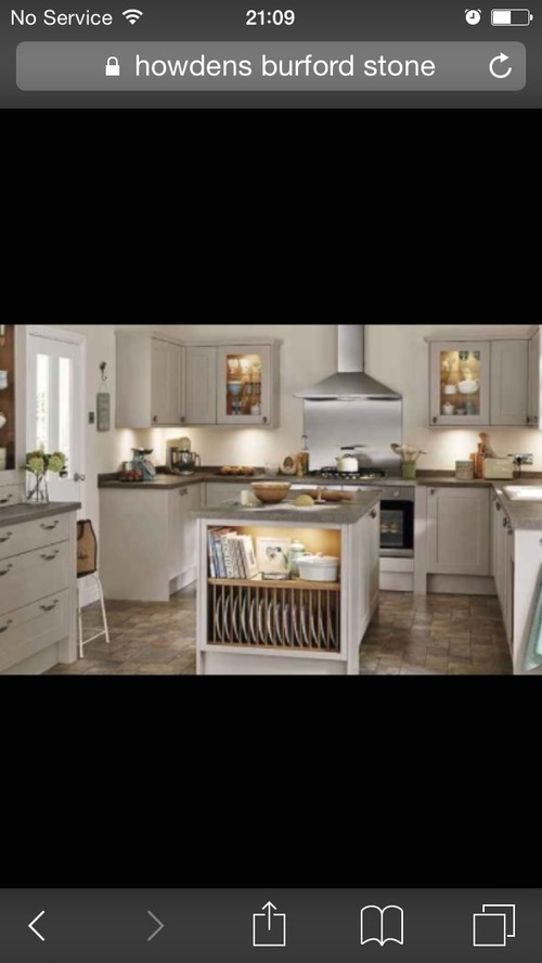 Kitchen cabinet colour - Howdens Stone