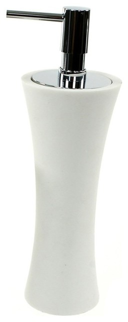 Free Standing Soap Dispenser Made From Thermoplastic Resins, White