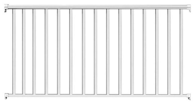 "Contractor Deck Railing 6'x42"" Aluminum Commercial Railing, White"