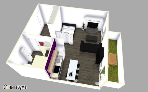 Id es am nagement studio 30m2 - Idee amenagement appartement 30m2 ...