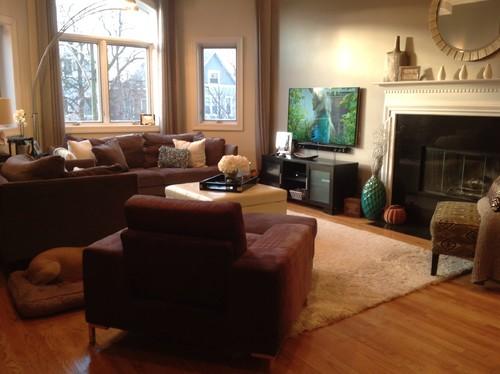 Too crowded---furniture arrangement needs help!