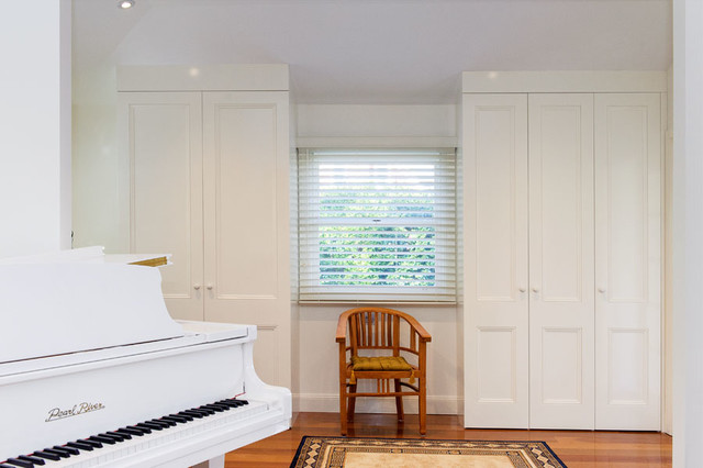 Built In Wardrobes Sydney Transitional Living Room