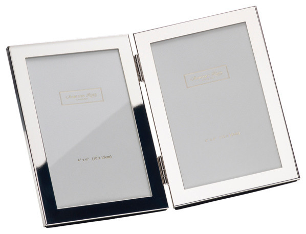 double portrait silver plated frame 4x6 contemporary picture frames