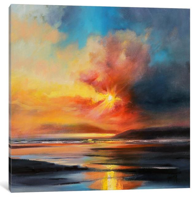 """emerging Sun Gallery"" By Scott Naismith, 12x12x1.5""."