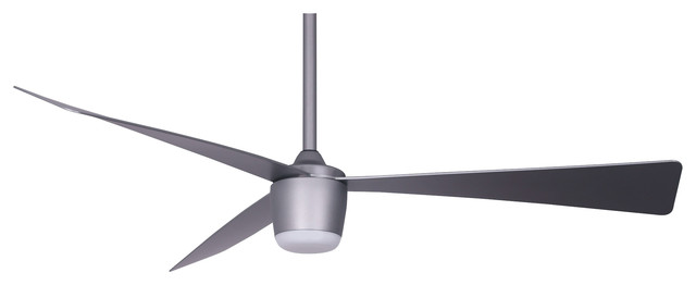Star 7, DC motor, LED light, Remote control Ceiling Fan, Space Gray
