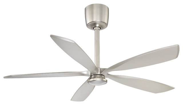 "Phantom 54"" Led Satin Nickel Dc Motor Ceiling Fan."