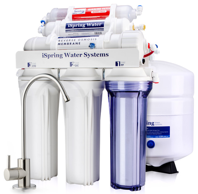 iSpring 6-Stage Alkaline Mineral 75GPD Reverse Osmosis RO Water System