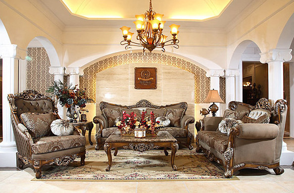 Antique Sofa Sets From AFD – Beautiful Replicas For An Elegant Living Room - Traditional ... - photo#24