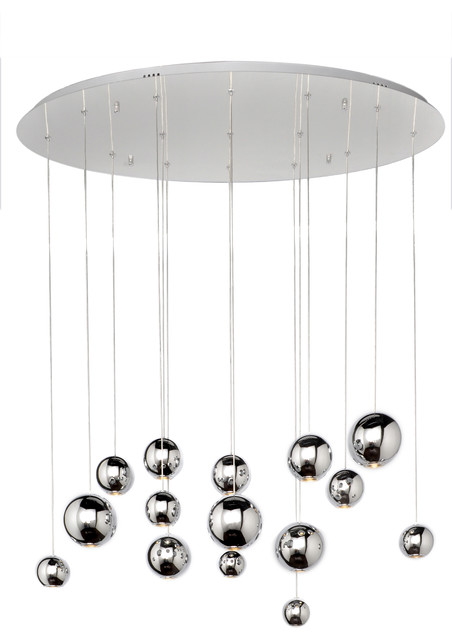 Bollero Multi Light Pendant Polished Chrome 11
