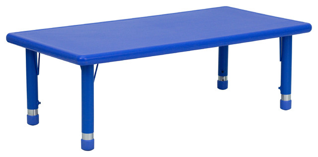 MFO 24''W x 48''L Height Adjustable Rectangular Plastic Activity Table