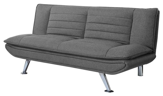 Coaster Fabric Sofa Bed With Gray