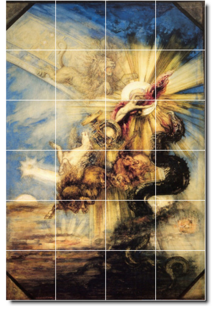 Gustave moreau mythology painting ceramic tile mural 71 for Ceramic mural painting