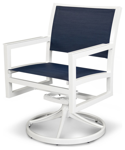 Admirable Outdoor Parsons Cube Swivel Rocker Chair Seat Sapphire Base Satin White Pabps2019 Chair Design Images Pabps2019Com