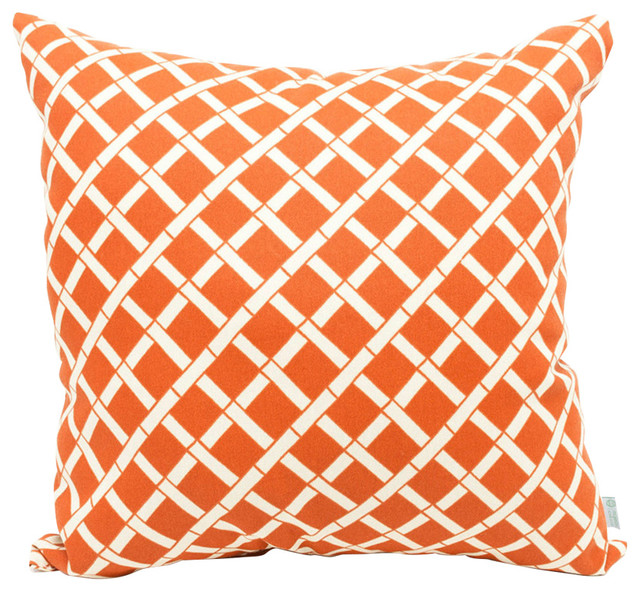 outdoor bamboo throw pillow orange large