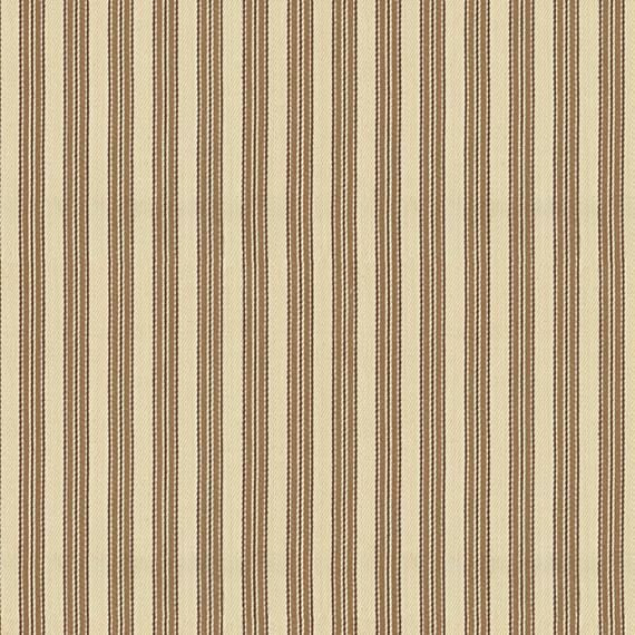 Beige Ticking Stripe Woven Fabric