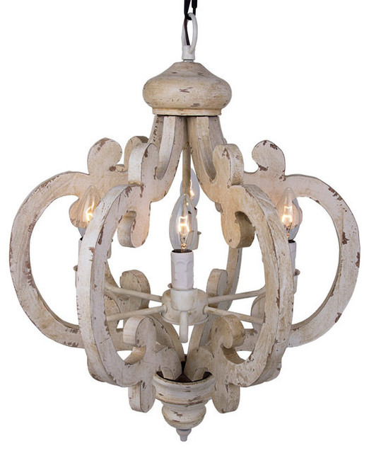 crown wood pendant distressed antique white