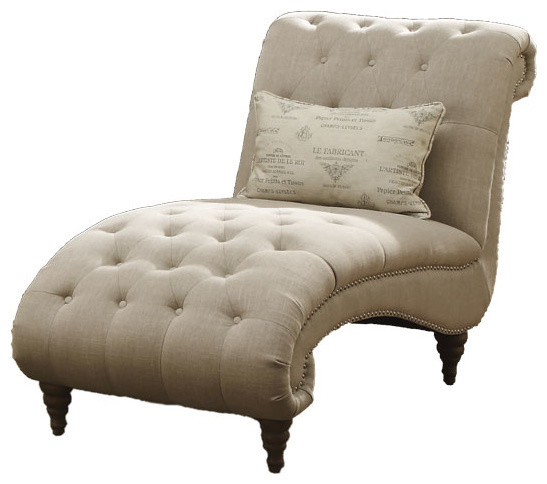 Hutton Ii Chaise Nailhead With 1 Pillows.