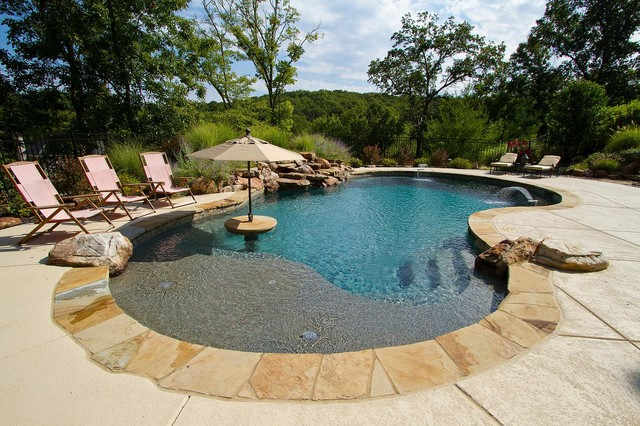 Freeform Pools Modern Pool St Louis By Pool Specialists Inc