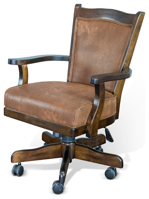 Santa Fe Game Chair With Casters Traditional Gaming Chairs