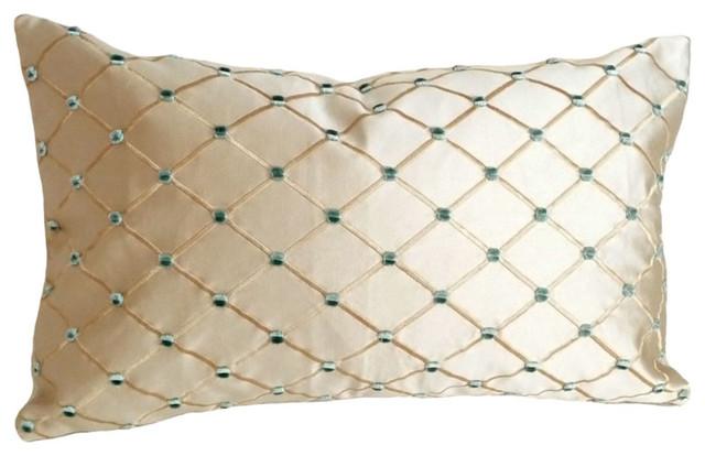 Luxury Textured Silk Accent Pillow