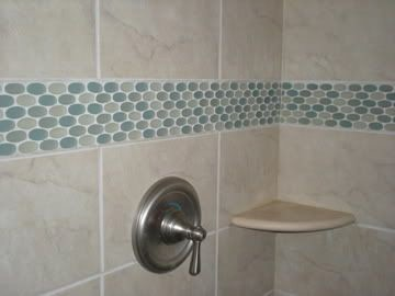 "Shower Tile  ""barcode"" Glass Tileinterstyle Ceramic & Glass Enchanting Bathroom Accent Tile Review"