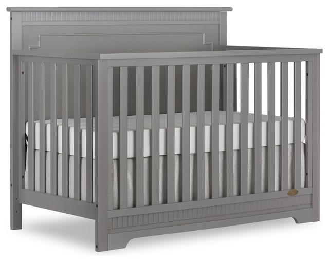 Dream On Me Morgan 5 in 1 Convertible Crib, Storm Gray