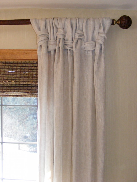 Linen Panel Treatments Designed by Michael John tropical-curtains
