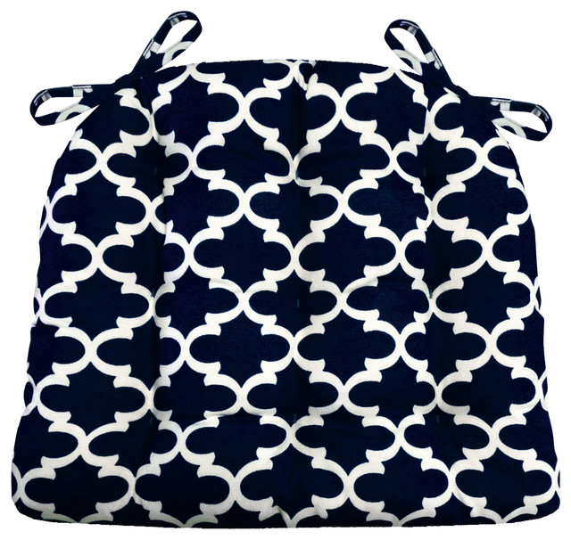 Fulton Ogee Navy Blue Indoor Outdoor Chair Cushion