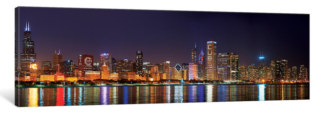 Downtown Skyline I Chicago Gallery Wrapped Canvas Art Print Contemporary Prints And Posters By Icanvas Houzz