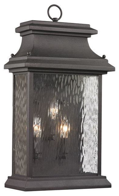 Elk Lighting 47054/3 Forged Provincial 3-Light Outdoor Wall.