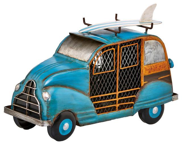 Figurine Fan, Blue Woody Car.