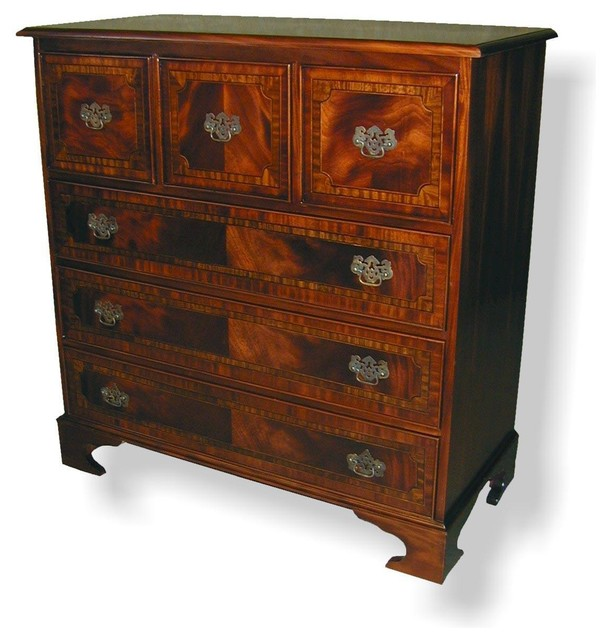 Chest Of Drawers English Banded Inlay.